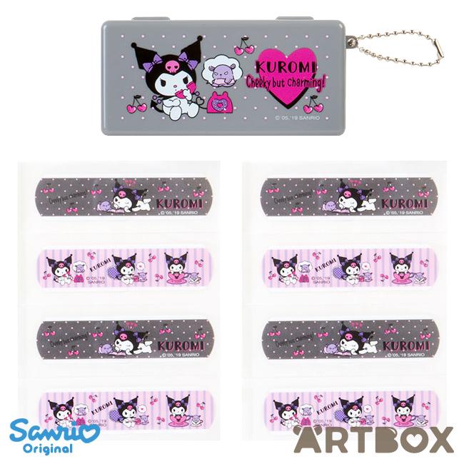 buy sanrio kuromi design plasters set with storage case at artbox