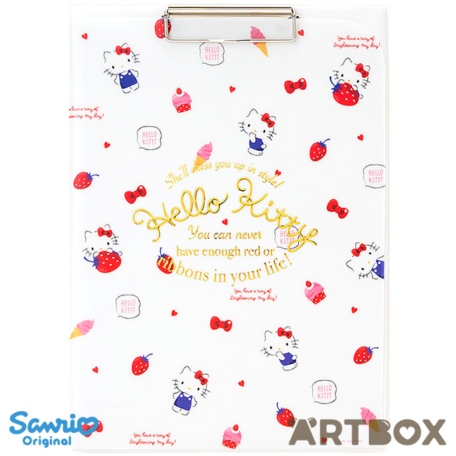 30368898d Buy Hello Kitty Strawberry A4 Clipboard with Cover Pocket at ARTBOX