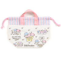 8e03381294 Little Twin Stars Sweets Drawstring Lunch Tote Bag