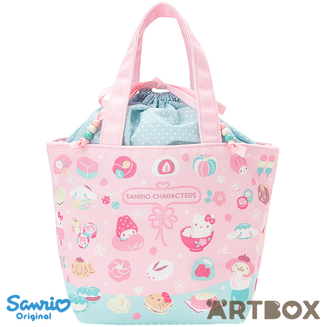 a06f9053bc31 Buy Sanrio Characters Wagashi Series Small Drawstring Tote Handbag at ARTBOX