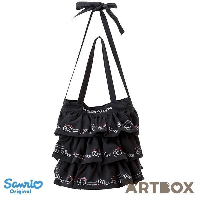 aeef27c0f277 Buy Sanrio Hello Kitty Black Layered Frill 2-Way Tote Bag at ARTBOX