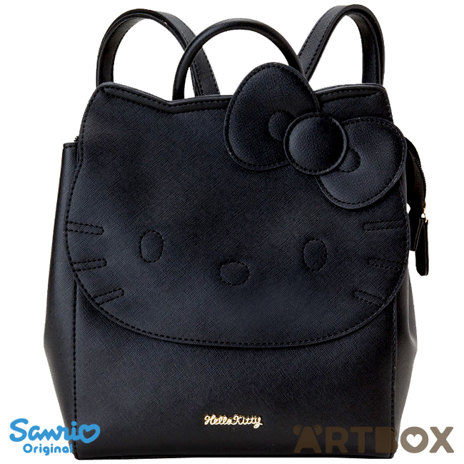 331025501 Buy Sanrio Hello Kitty Black Faux Leather Style Die-Cut Face Backpack at  ARTBOX