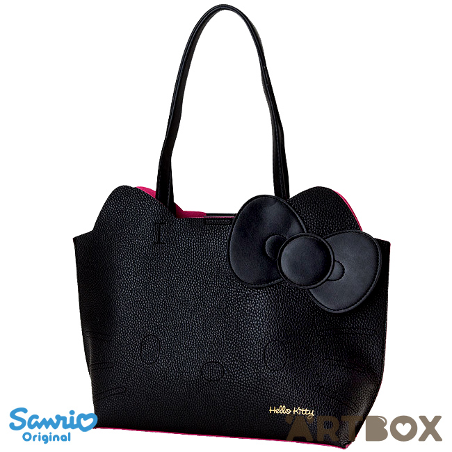 05f65c3d64f8 Buy Sanrio Hello Kitty Black Faux Leather Style Die-Cut Face Tote Bag at  ARTBOX