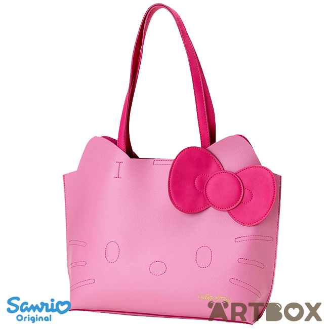 687a1590e794 Buy Sanrio Hello Kitty Pink Faux Leather Style Die-Cut Face Tote Bag at  ARTBOX