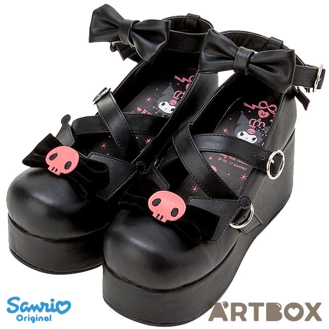 L Ribbon With Straps Shoes At Platform Artbox Series Buy Sanrio Kuromi HEDIYW29