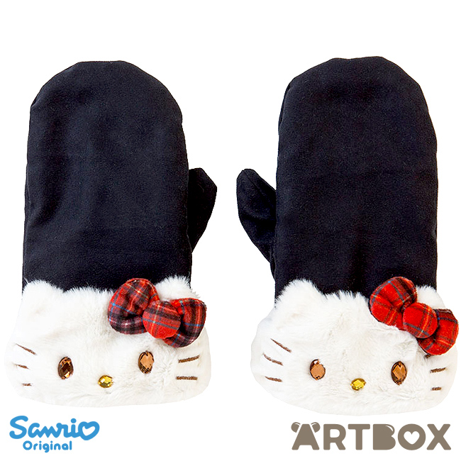 6cd426c11 Buy Hello Kitty Plush Fur Cuff Mittens with Jewel Eyes at ARTBOX