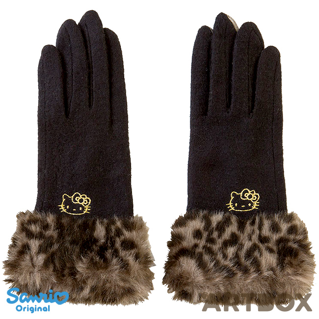 b0ef6c867 Buy Sanrio Hello Kitty Fur Cuff Smartphone Gloves with Embroidery at ARTBOX
