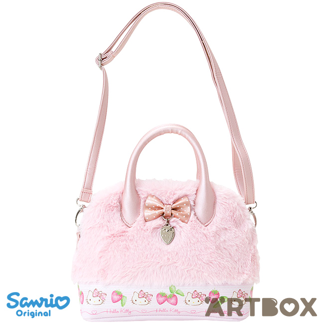 c9a1f72bd32f Buy Sanrio Hello Kitty Bow and Charm Mini Faux Leather   Plush Fur Handbag  at ARTBOX