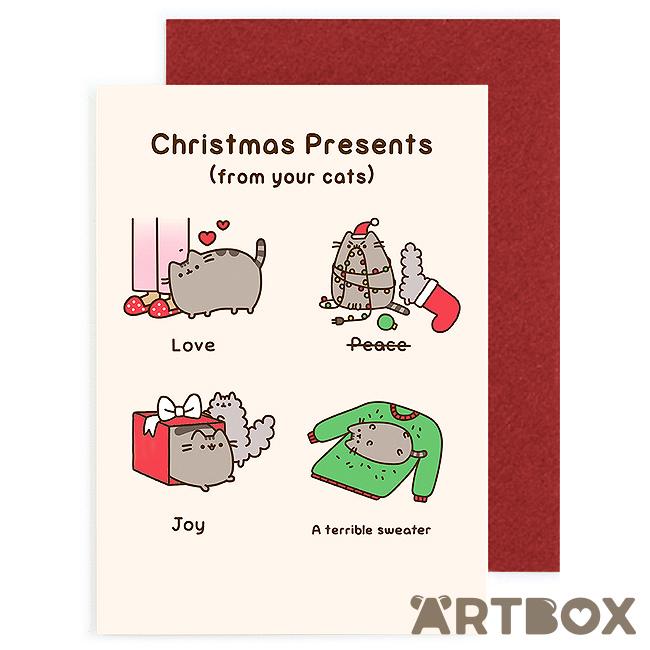 Pusheen Christmas.Buy Pusheen Christmas Presents Greeting Card At Artbox