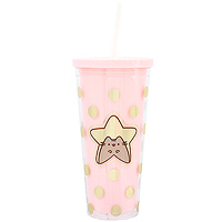 f4000977837 Buy Pusheen the Cat Clear Plastic Beaker with Straw at ARTBOX