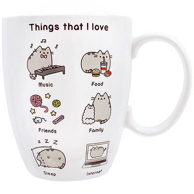 981fd667f04 Buy Pusheen the Cat Things I Love Mug at ARTBOX