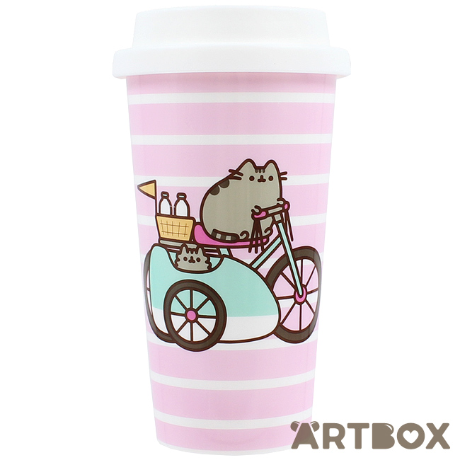 f4107df6d40 Buy Pusheen and Stormy Let's Go Bike Travel Mug at ARTBOX