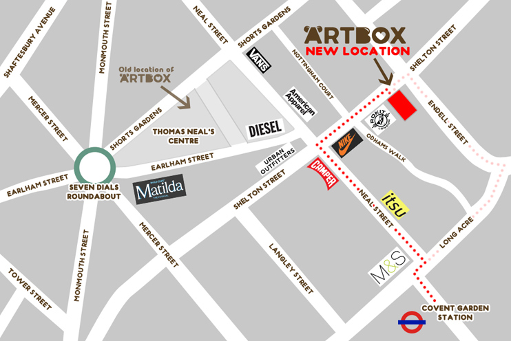 Map to Artbox