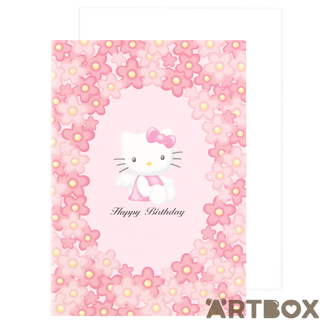 Buy sanrio hello kitty angel flowers pink birthday card at artbox m4hsunfo