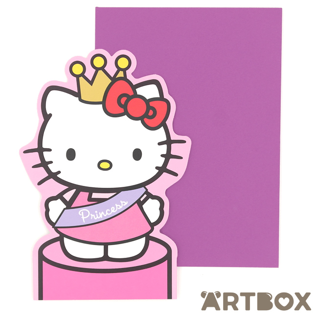 Buy sanrio hello kitty princess die cut stand up greeting card at artbox m4hsunfo