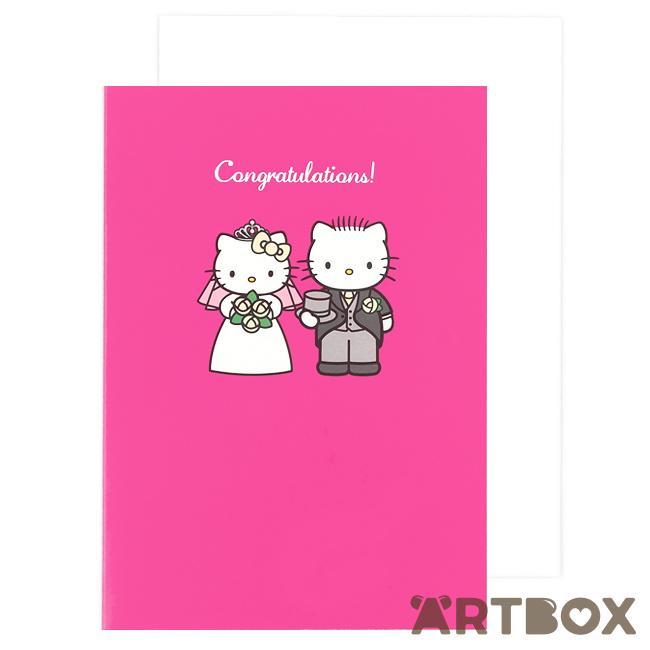 buy sanrio hello kitty wedding congratulations pink greeting card at artbox