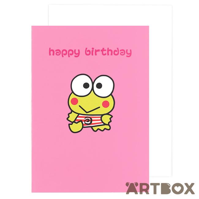Buy sanrio keroppi frog pink birthday card at artbox colourmoves