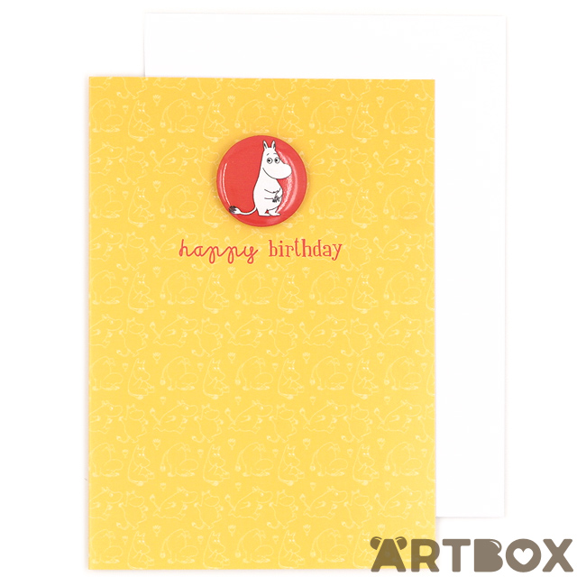 Buy Moomintroll Little My Ideas Comic Grey Greeting Card At Artbox
