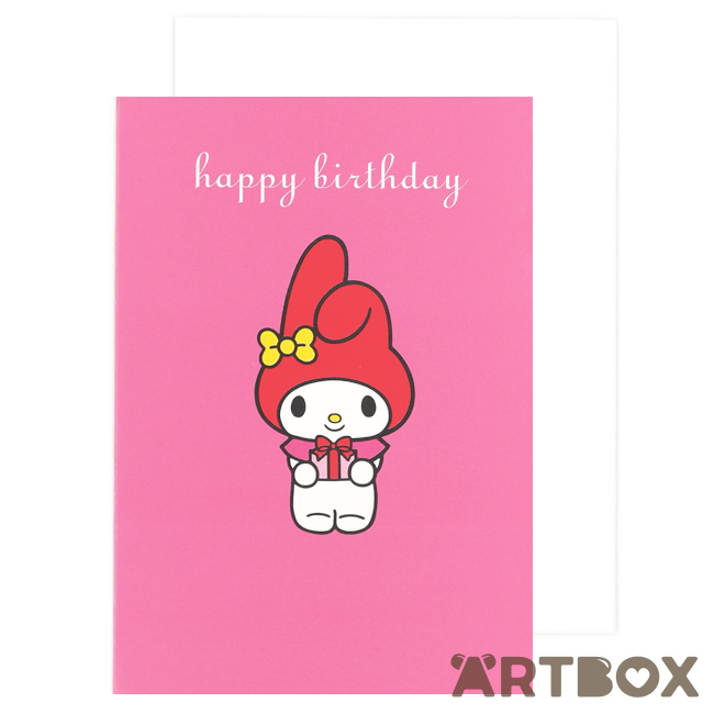 Buy sanrio my melody pink birthday card at artbox m4hsunfo