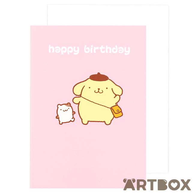 Buy sanrio pompompurin pink birthday card at artbox bookmarktalkfo Choice Image