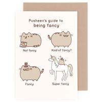 buy pusheen the cat happy birthday ribbon greeting card at artbox, Birthday card