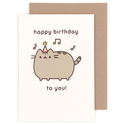 Buy Pusheen The Cat Happy Birthday Music Greeting Card At ARTBOX