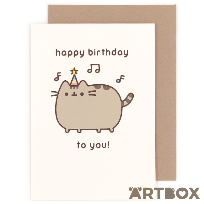 Buy Pusheen The Cat Happy Birthday Music Greeting Card At Artbox