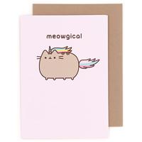 buy pusheen the cat happy birthday cake greeting card at artbox, Birthday card