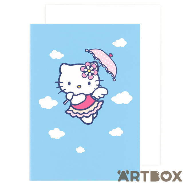 Buy sanrio hello kitty floating clouds blue greeting card at artbox m4hsunfo