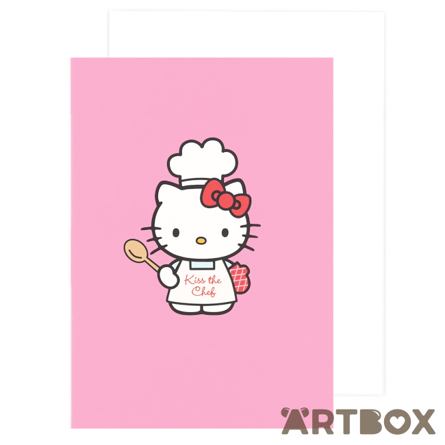 Buy sanrio hello kitty kiss the chef pink greeting card at artbox m4hsunfo