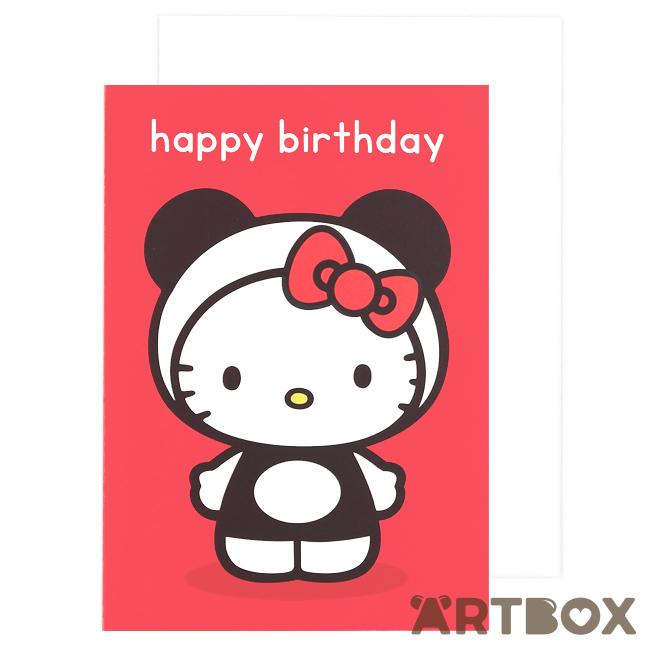 buy sanrio hello kitty red panda happy birthday card at artbox