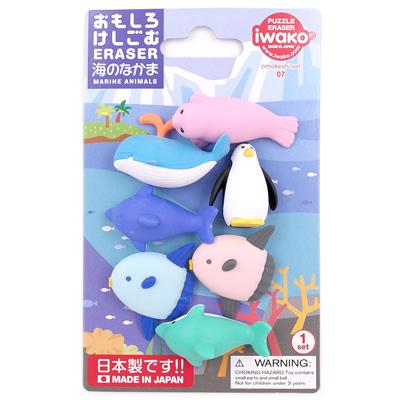 IWAKO Japanese Animal Puzzle Eraser Rubbers IWAKO Penguin Erasers