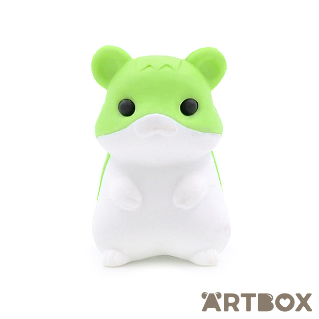 cute green hamster eraser from Japan by Iwako