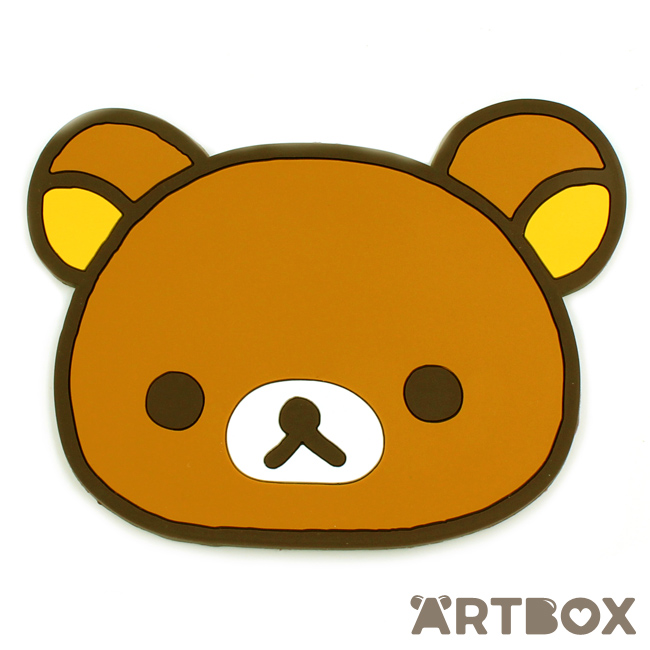 Buy San X Rilakkuma Face Die Cut Rubber Coaster At Artbox