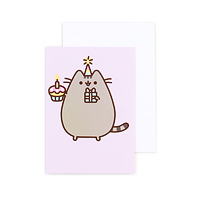 buy pusheen the cat happy birthday balloons greeting card at artbox, Birthday card