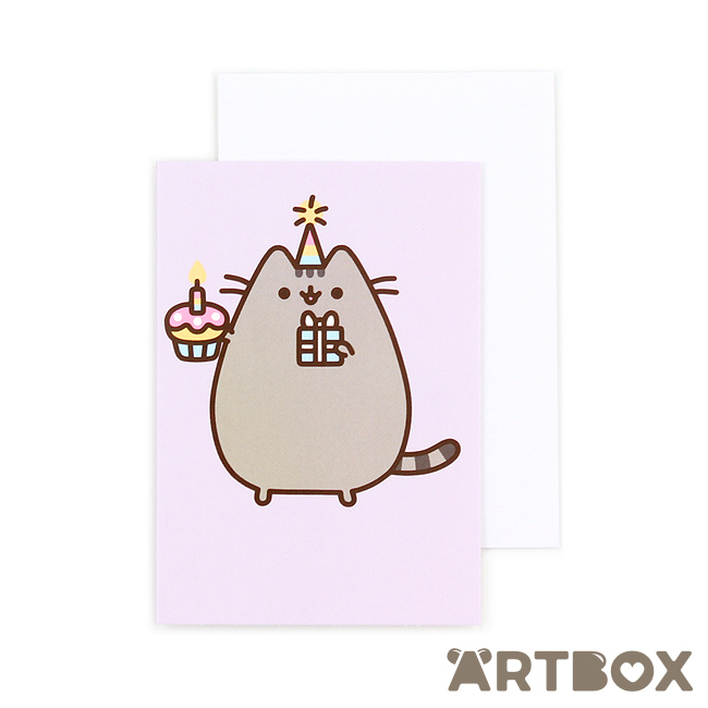 Buy pusheen birthday cupcake mini greeting card at artbox bookmarktalkfo Choice Image