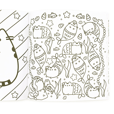 CHARACTER: Pusheen TAGS: Pusheen | The Cat | Colouring | Book | Coloring |  Adult | Line Art | Stress Relief | Kawaii | Cute