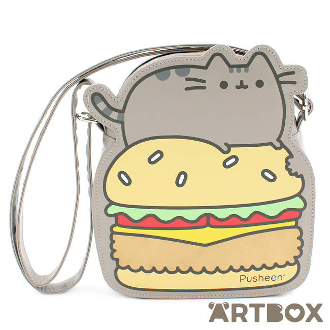 Pusheen On Burger Small Cute Cross Body Bag Anime Cat New With Tags