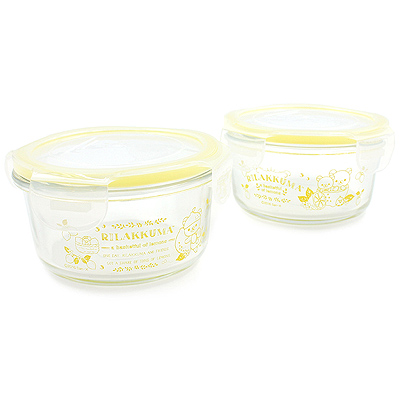 Buy San-X Rilakkuma Fresh Lemon Yellow Glass Food Saver Set at ARTBOX