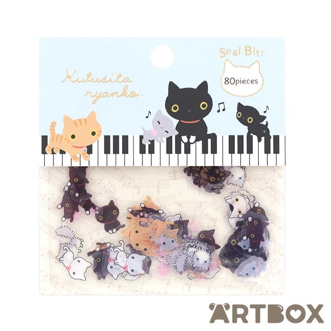 Buy san x kutusita nyanko cat seal bits flake stickers at artbox