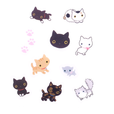 Character kutusita nyanko tags san x kutusita nyanko black cat neko stickers seal bits flakes sack loose musical